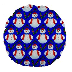 Seamless Repeat Repeating Pattern Large 18  Premium Flano Round Cushions by Celenk