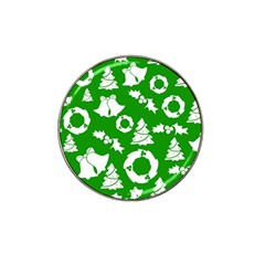 Green White Backdrop Background Card Christmas Hat Clip Ball Marker (10 Pack)