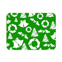 Green White Backdrop Background Card Christmas Double Sided Flano Blanket (mini)  by Celenk