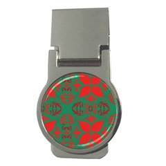 Christmas Background Money Clips (round)  by Celenk