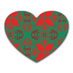 Christmas Background Heart Mousepads by Celenk