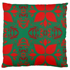Christmas Background Large Cushion Case (one Side) by Celenk