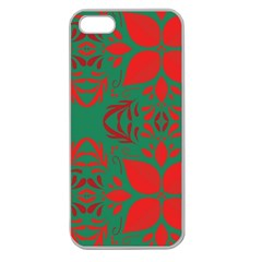 Christmas Background Apple Seamless Iphone 5 Case (clear) by Celenk