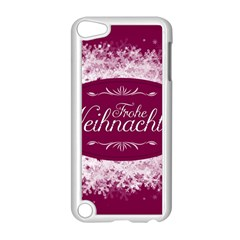 Christmas Card Red Snowflakes Apple Ipod Touch 5 Case (white) by Celenk