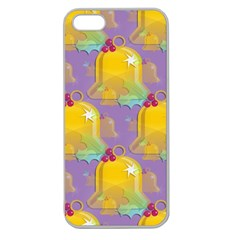 Seamless Repeat Repeating Pattern Apple Seamless Iphone 5 Case (clear) by Celenk