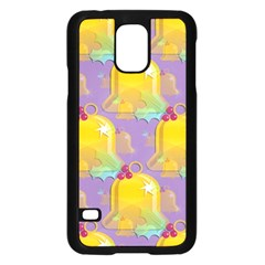 Seamless Repeat Repeating Pattern Samsung Galaxy S5 Case (black) by Celenk