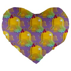 Seamless Repeat Repeating Pattern Large 19  Premium Flano Heart Shape Cushions by Celenk
