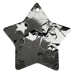 Background Celebration Christmas Star Ornament (two Sides) by Celenk