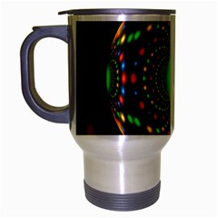 Christmas Ornament Fractal Travel Mug (silver Gray) by Celenk