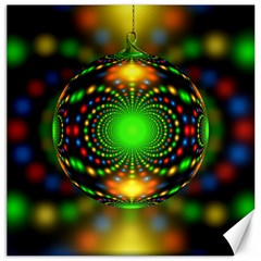 Christmas Ornament Fractal Canvas 16  X 16   by Celenk