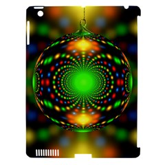Christmas Ornament Fractal Apple Ipad 3/4 Hardshell Case (compatible With Smart Cover) by Celenk