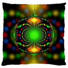 Christmas Ornament Fractal Large Flano Cushion Case (two Sides) by Celenk