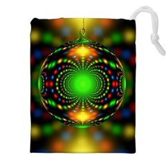 Christmas Ornament Fractal Drawstring Pouches (xxl)
