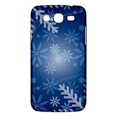 Snowflakes Background Blue Snowy Samsung Galaxy Mega 5 8 I9152 Hardshell Case  by Celenk