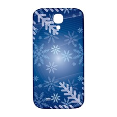 Snowflakes Background Blue Snowy Samsung Galaxy S4 I9500/i9505  Hardshell Back Case by Celenk