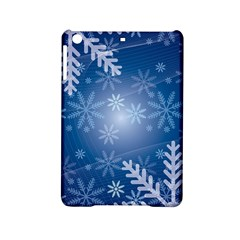Snowflakes Background Blue Snowy Ipad Mini 2 Hardshell Cases by Celenk