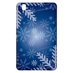 Snowflakes Background Blue Snowy Samsung Galaxy Tab Pro 8 4 Hardshell Case by Celenk