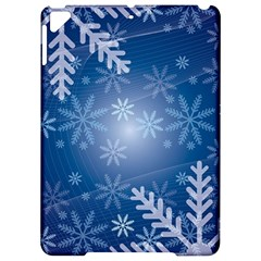 Snowflakes Background Blue Snowy Apple Ipad Pro 9 7   Hardshell Case by Celenk