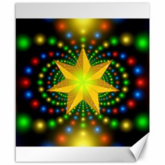 Christmas Star Fractal Symmetry Canvas 8  X 10  by Celenk