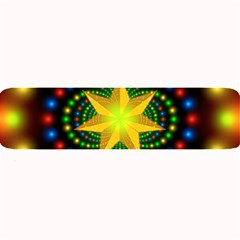 Christmas Star Fractal Symmetry Large Bar Mats by Celenk