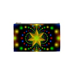 Christmas Star Fractal Symmetry Cosmetic Bag (small)  by Celenk