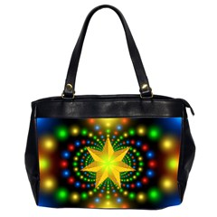 Christmas Star Fractal Symmetry Office Handbags (2 Sides)