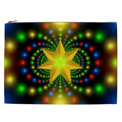Christmas Star Fractal Symmetry Cosmetic Bag (xxl)  by Celenk