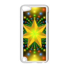 Christmas Star Fractal Symmetry Apple Ipod Touch 5 Case (white) by Celenk