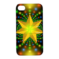 Christmas Star Fractal Symmetry Apple Iphone 4/4s Hardshell Case With Stand by Celenk