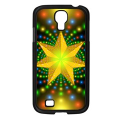 Christmas Star Fractal Symmetry Samsung Galaxy S4 I9500/ I9505 Case (black) by Celenk