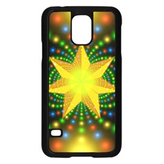 Christmas Star Fractal Symmetry Samsung Galaxy S5 Case (black) by Celenk