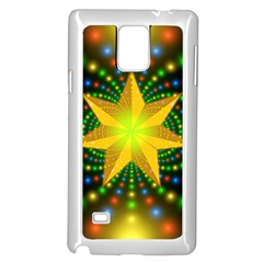 Christmas Star Fractal Symmetry Samsung Galaxy Note 4 Case (white) by Celenk