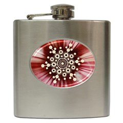 Background Star Red Abstract Hip Flask (6 Oz) by Celenk