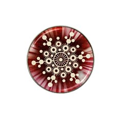 Background Star Red Abstract Hat Clip Ball Marker (10 Pack)