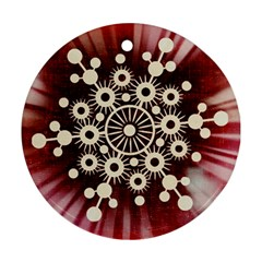 Background Star Red Abstract Round Ornament (two Sides)