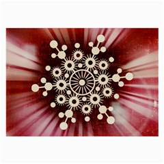 Background Star Red Abstract Large Glasses Cloth by Celenk