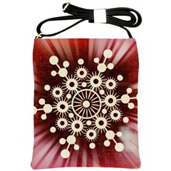 Background Star Red Abstract Shoulder Sling Bags