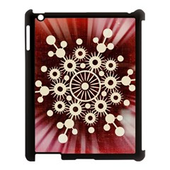 Background Star Red Abstract Apple Ipad 3/4 Case (black) by Celenk