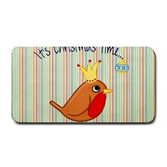 Bird Christmas Card Blue Modern Medium Bar Mats