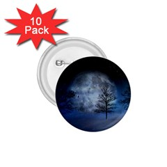 Winter Wintry Moon Christmas Snow 1 75  Buttons (10 Pack) by Celenk