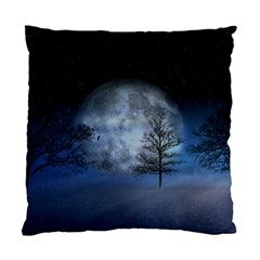 Winter Wintry Moon Christmas Snow Standard Cushion Case (one Side) by Celenk