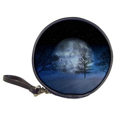 Winter Wintry Moon Christmas Snow Classic 20 Cd Wallets by Celenk