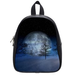 Winter Wintry Moon Christmas Snow School Bag (small) by Celenk