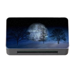 Winter Wintry Moon Christmas Snow Memory Card Reader With Cf by Celenk