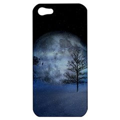 Winter Wintry Moon Christmas Snow Apple Iphone 5 Hardshell Case by Celenk