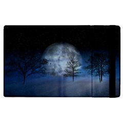 Winter Wintry Moon Christmas Snow Apple Ipad 2 Flip Case