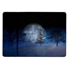 Winter Wintry Moon Christmas Snow Samsung Galaxy Tab 10 1  P7500 Flip Case by Celenk