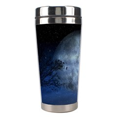 Winter Wintry Moon Christmas Snow Stainless Steel Travel Tumblers by Celenk