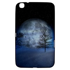 Winter Wintry Moon Christmas Snow Samsung Galaxy Tab 3 (8 ) T3100 Hardshell Case  by Celenk