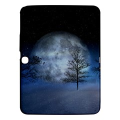 Winter Wintry Moon Christmas Snow Samsung Galaxy Tab 3 (10 1 ) P5200 Hardshell Case  by Celenk